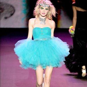 Betsey Johnson Blue Tulle Dress